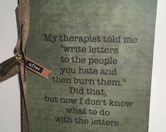 Burned People Journal (Funny)