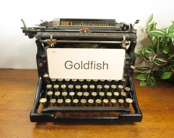 Vintage Flash Card Goldfish, Gold Fish