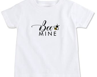 Bee Mine Organic Cotton Toddler T Shirt - Be Mine Valentine's Day Love