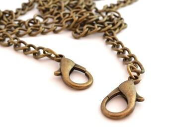 Handbag color bronze length 120 cm chain / CPS008