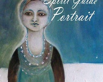 Psychic art. Spirit guided painting, A portrait of your guide.