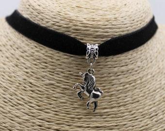 horse choker horses kawaii cabochon animal necklace