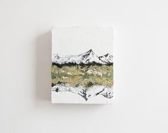 Mountain Reflection - Original Acrylic Painting by Britt Fabello