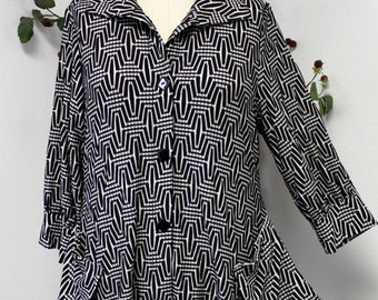 Dashing and Hype Designer Plus Size Blouse with Smart Sleeves. M to 3XL