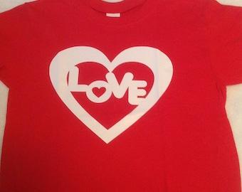 Valentine, love , red TShirt