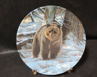 "Collector Plate- ""The Grizzly Bear"" by Paul Krapf- The first plate in ""Wild and Free- Canada's Big Game""-Canadian Wildlife Federation"