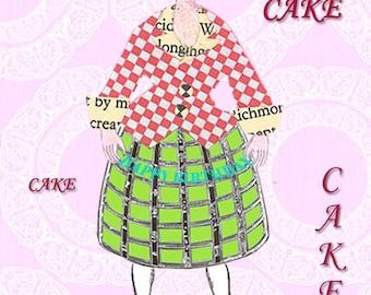 Birthday Card | Marie Antoinette | Handmade Happy Birthday Card | Blank Card