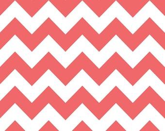 Riley Blake Chevron Rouge Fabric, 1 yard