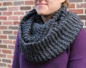 Hand Knit Bulky Infinity Scarf