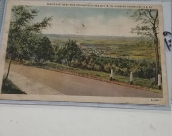 Springfield Pike 711 Connellsville PA Postcard