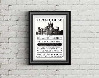 Downton Abbey Open House Poster