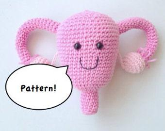 Uterus Amigurumi Pattern