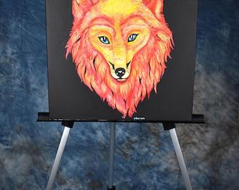 OOAK: Fire fox painting