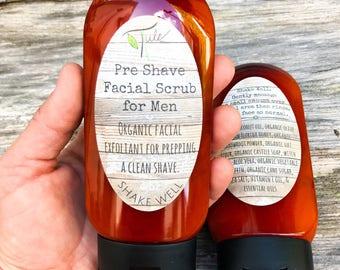Men's Pre-Shave Facial Scrub