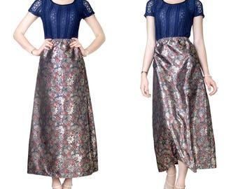 Skirt long brocade embroidery Fine (M23)