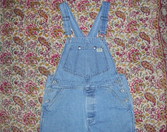 Bib Overalls Guess Hippie Painter Overalls USA Made Vintage Denim Jeans Cotton Boho Summer Bibs Overall Unisex Adult L 36 x 31