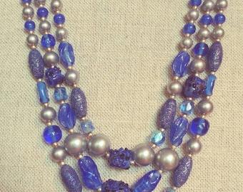 Vintage Blue Necklace Japan