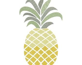 pineapple machine embroidery design