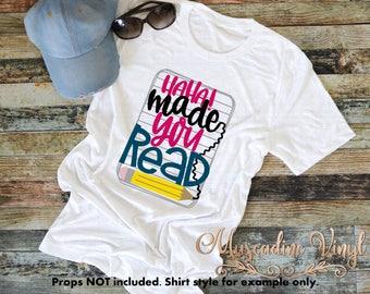 HaHa Made Your Read Teach Shirt - Teacher Shirt - Unisex Shirt- Teacher Appreciation - Teacher Gift