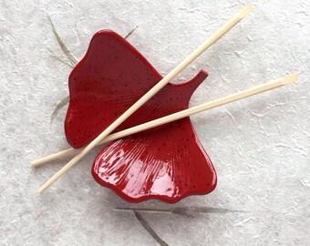 Ginkgo Leaf Ceramic Dish, Spring, catchall, jewelry, ring holder, decor, soap dish, candle holder, teabag holder, spoonrest.