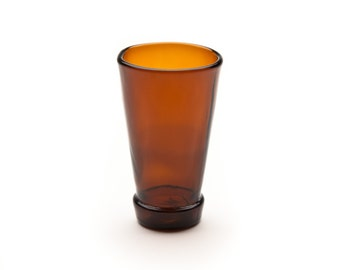 Bottle Top Shot Glass Brown Made from Recycled Glass Bottle by Battat Glass