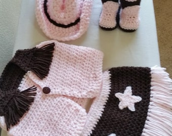 Cowgirl baby outfit