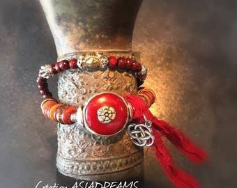 "Bracelet ""Lunh"" ethnic tribal and chic - Collection ""Stops Nepalese""-"