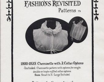 1800-1825 Regency Era Chemisette Sewing Pattern
