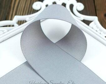Metal Gray 3/8 inch Ribbon - Choose from 1-50 yd - Dark Gray Grosgrain Ribbon - Hairbow Supplies, Etc..