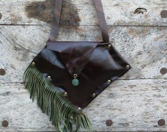 Brown leather crossbody bag, Crossbody handbags leather, Large crossbody bags, Leather shoulder bag brown, Woman handbag crossbody, Boho bag