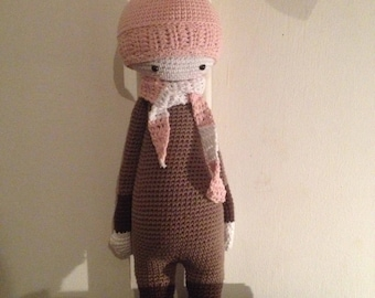 Pink crocheted Doll
