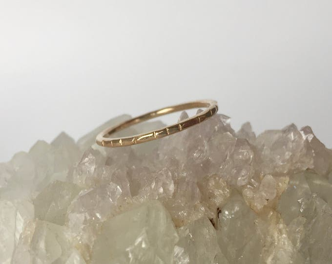 notched wedding band