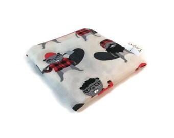 Lumberjack Beaver Snack Bag || Reusable Sandwich Bag || Reusable Snack bag || Eco Friendly Gift || Zippered Pouch || Food Safe Bag
