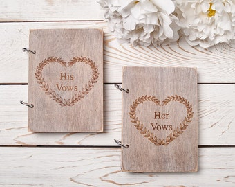 Wedding Vow Books Rustic Vows Book Set of 2 His And Her Vow Books