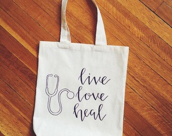 Physician Assistant, Nurse Practitioner or Nurse Tote Bag! Thank you RN, PA, NP Gift!