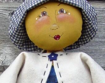 CF168 Moonbeam - PDF ePattern Cloth Doll Pattern, Moon Doll