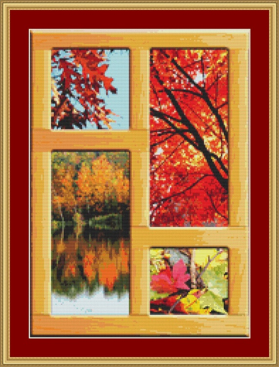 Autumnal Scenes Cross Stitch Pattern /Digital PDF Files /Instant downloadable