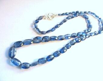 Cornflower Blue Kyanite Necklace