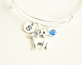Aries Bracelet, Aries gift, Aries Jewelry, Aries Birthday gift, Aries Zodiac Bracelet, Horoscope bracelet, March, April, Personalized Aries