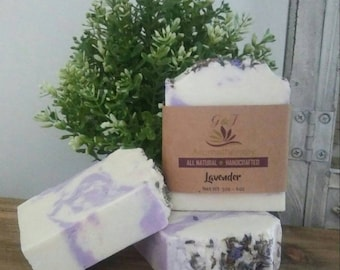 Lavender Handmade Soap All Natural |  Aromatherapy | Spa Relaxation | Skin Care | Bath Products | Beauty Products | Bath and Body