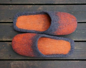Felt slippers Men slippers Felted slippers for men Mens house shoes Mens clogs Mann Hausschuhe männliche Hausschuhe