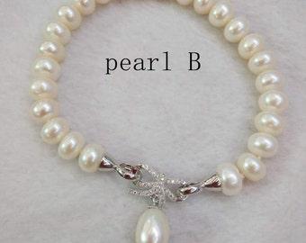 freshwater Pearl bracelet Bridesmaid bracelet wedding bracelet wedding gift bridesmaid gift bridal jewelry ivory pearl white pearl