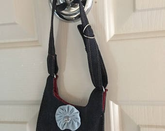 Denim Shoulder Bag for 18 Inch Doll