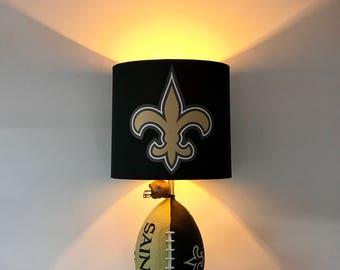 Delightful NFL, New Orleans Saints Lamp, Saints, Man Cave Decor , Sports Lamp,