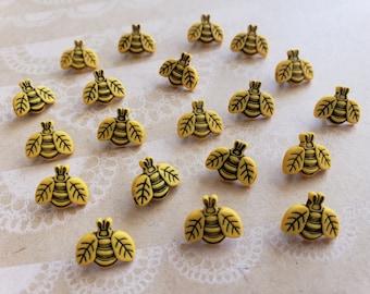 """Gelb die kleine Biene Tasten - kleine Bienen - Nähen Ösenknopf - 1/2"""" breit - 20 Tasten"""
