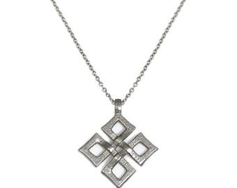 Celtic Knot Cross, Pendant Necklace, Relic Jewely, Stainless Steel Jewelry for Her, Edgy Jewelry, Gift for Her, Boutique Style