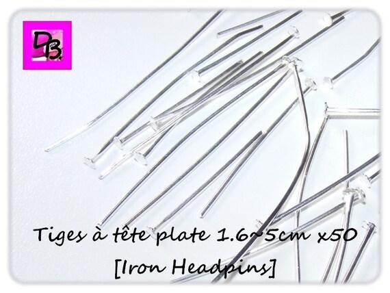 50 tiges à tête plate [1.6 cm à 5 cm]