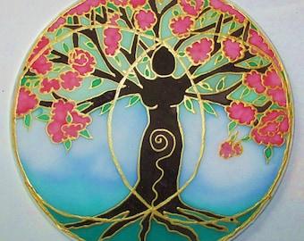 Goddess tree art mandala art spiritual gift Tree of Life art Tree Of Creativity spring art mandala art spiritual art goddess art meditation