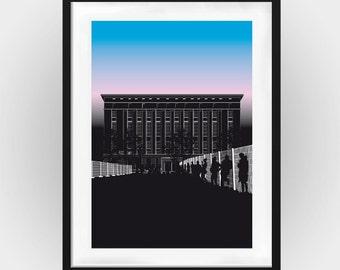 Poster: Berghain queue