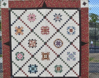 Traditional BOM Quilt for King Size or Big Queen